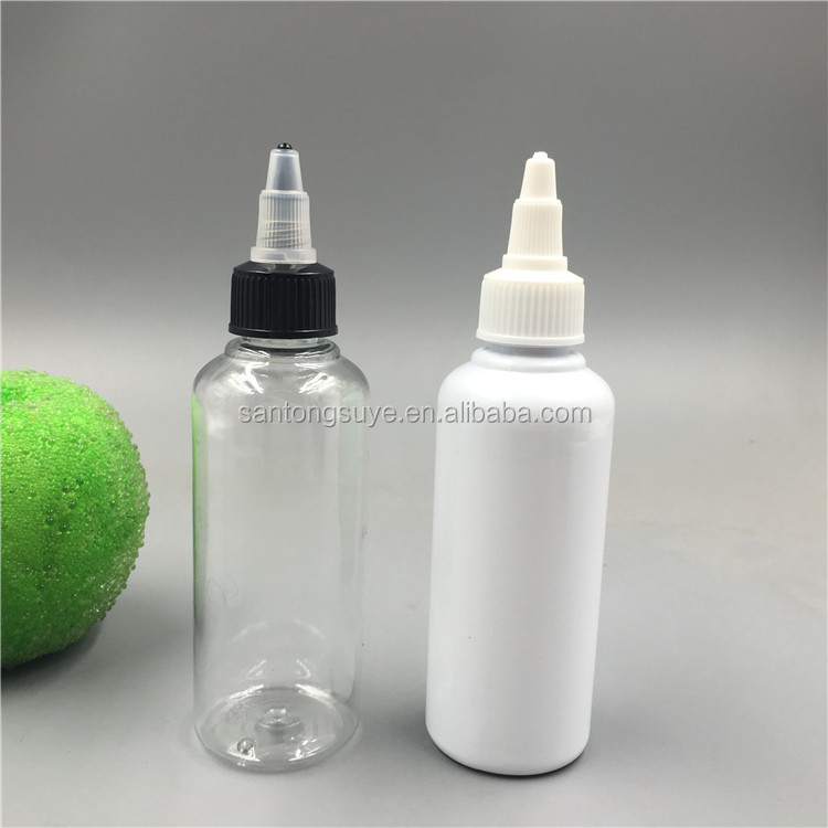 100ml Empty Plastic Tattoo Ink e liquid bottle with twist top cap