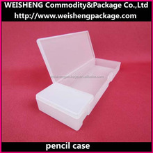 Transparent waterproof cosmetic storage case/plastic transparent pencil case/stationery storage box