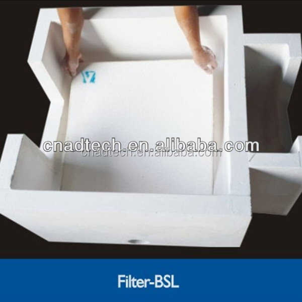 High strength ceramic filter box for billet casting filtration