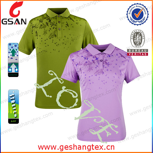 Beautiful printed couple golf polo shirt buy golf polo for Couple polo shirts online