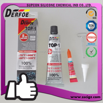 Derfoe Top-1 2017 Hi temp RTV Silicone Gasket maker material Form USA dow corning 320C 650F High quality NEW Easy Disassemble