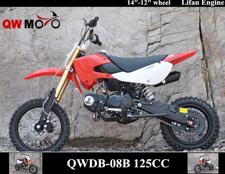 QWMOTO CE Zhejiang High quality hot sale 125cc air-cooled 4 stroke racing Motorcycle 125cc Dirt cross Bike for Cheap sale