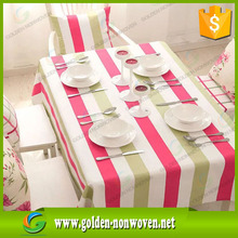 Color printed round design tablecloth TNT non woven, colorful nonwoven tablecloth,printed non woven tablecover