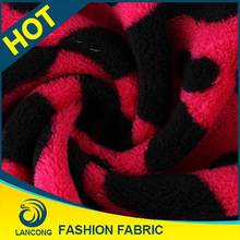 Shaoxing supplier Garment use Attractive stock coral fleece fabric