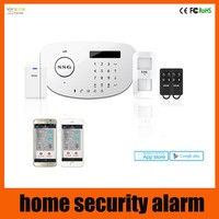 iOS/Android Apps Supported Smart gsm wireless home security alarm system