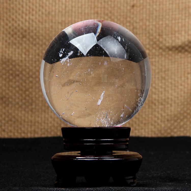 China factory solid decorative glass crystal ball clear