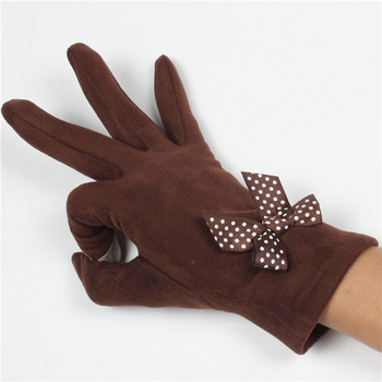 Womens dress bowknott decoration touch screen gloves for phone