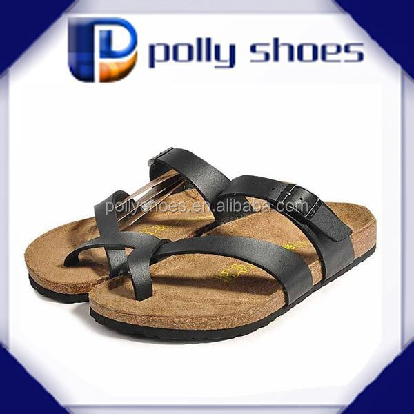stylish european men cork sandals,men wood cork slipper