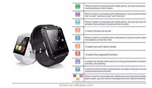 hot selling u8 bluetooth smartwatch 1.44inch TFT android wholesale sport smart watch u8