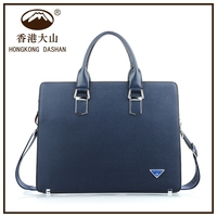 Cross grain PU leather men's laptop bags from manufacturer