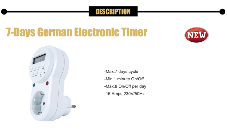 7 Day Mechanical Electronic Interval Timer