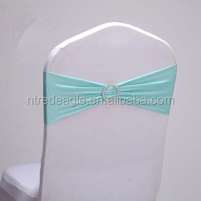 popular tiffany wedding/banquet/party lycra chair band spandex chair sash with/no round diamond buckle