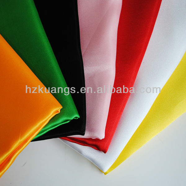 100% polyester colorful cheap satin fabric