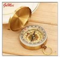 Hiking Camping Portable Pocket Watch Flip-Open Compass Outdoor Navigation Tools G50 Copper Outdoor Compass