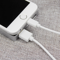 1m White Color 8pin To USB Cable Charging Functions For Apple