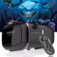 new design high quality vr box glasses,good power coolux projector,vr shinecon with long warranty