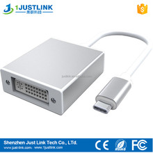 high-definition high speed USB 3.1 Type-C to DVI adapter conventer cable for HDTV projectors LCD Monitor