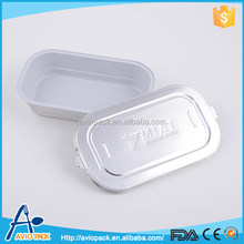 Eco friendly aluminum foil microwaveable lunch box containers