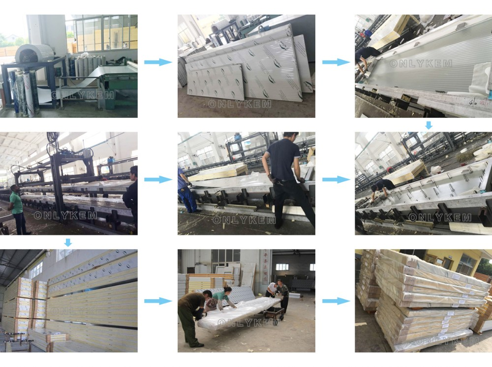 Seafood Walk In Freezer Room With PU Sandwich Panel