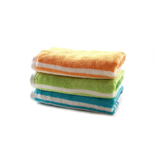 Colorful Jacquard Stripe Towel Custom Woven Wash Cloth