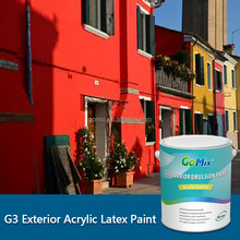 Acrylic Latex Paint G3 Exterior House Decorations