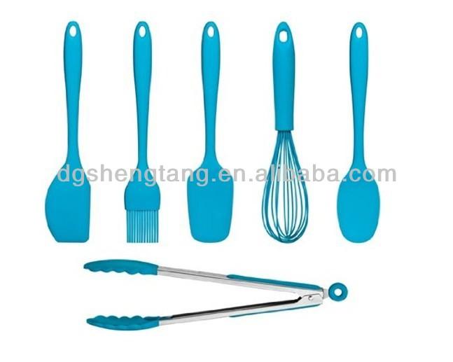 Funky fresco blu 6 pezzo silicone utensili da cucina set for Attrezzi cucina in silicone