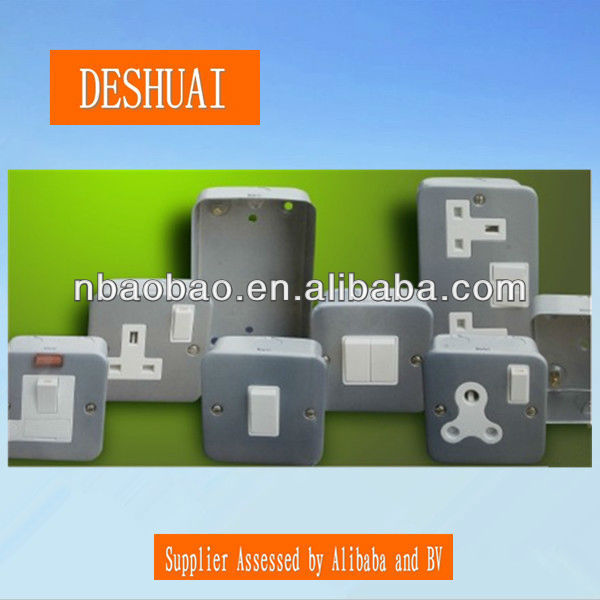 UK metal clad box socket switch