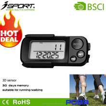 Shenzhen Professional Pedometer Factory Hot Sale 15 Days Memory Convenient Wearing 3D Pedometer P089