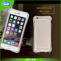 Factory direct shockproof transparent tpu phone case for iphone 6