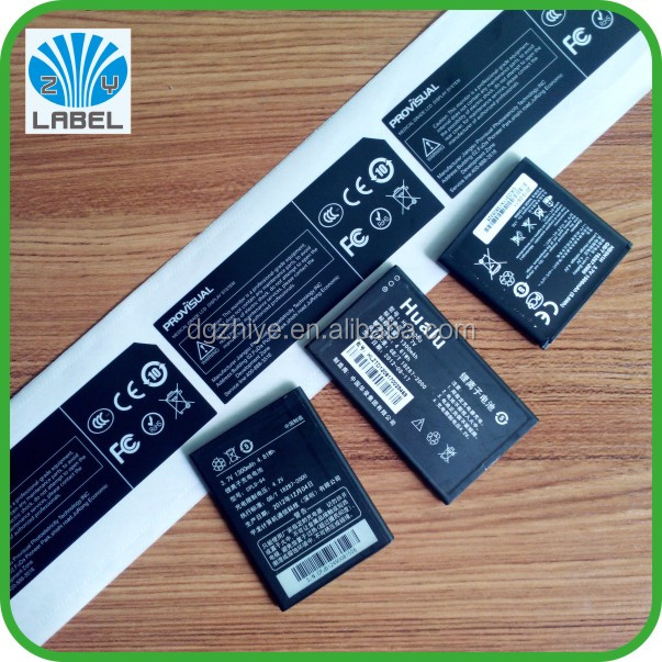 mobile phone battery label sticker vinyl adhesive labels for electronic