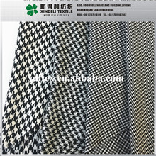 Yarn dyed woven houndstooth 65 cotton 35 polyester fabric for suit garment
