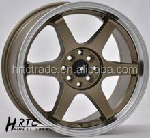 HRTC chrome alloy rims chrome car rims wheels 17*7.5 and 18*8.0 chrome rims