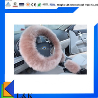 High-end car accessories three-piece set steering wheel cover gear cover handbreak cover