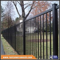 Easily Assembled PVC Coated cheap modular metal fence panels