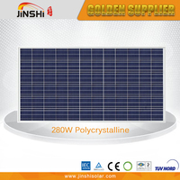 280W poly solar panel, solar cells with TUV, IEC, CE for solar systems