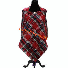 Latest Poncho With tassel Scarf Shawl blanket Poncho Scarve Wrap knitted poncho