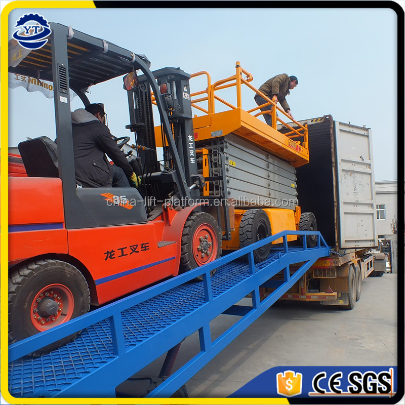 6 tons hydraulic container ramp for forklift loading deck ramp