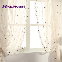 100% polyester sheer curtain fabric,tulle embroidery curtain fabric for home decoration