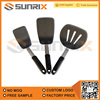 Non Stick 3 Piece Silicone Turner Spatula Set With Stainless Steel Handle