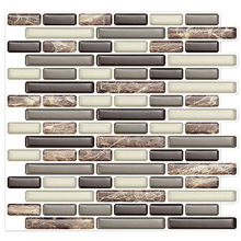 Newly design Self adhesive Peel and stick plastic decorative ceramic wall tiles