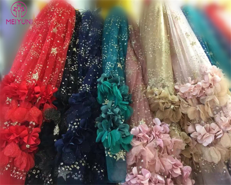 DIY 3d lace fabric for 3d lace wedding dress PS027