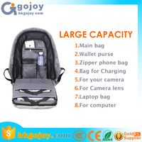 "2017 Wholesale bobby backpack Anti theft backpack with USB charging port Laptop Bag 15"" water proof"