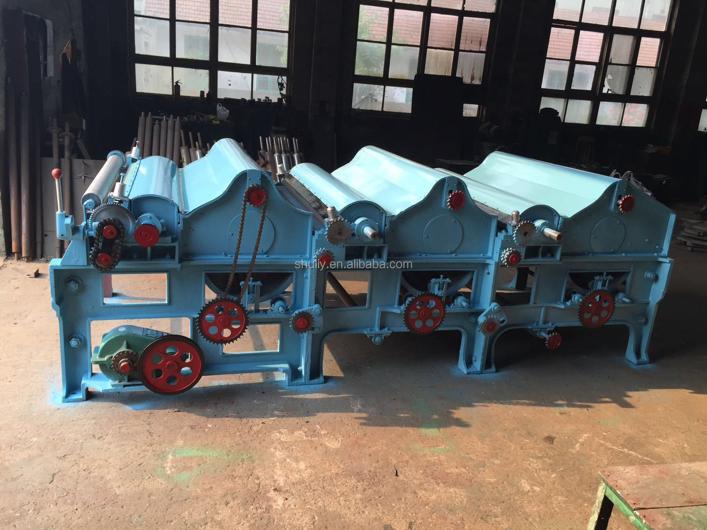 Waste cotton cloth bushing and cleaning machine textile fiber process and recycle machine