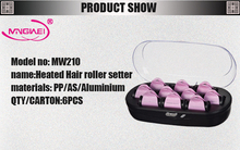 2015 new design Flocked surface 10 rollers hair curler roller with CE ROHS