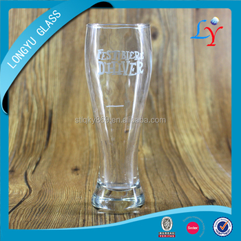 glass beer cup 400ml tulip beer glass
