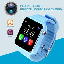 Children Kids GPS Smart Phone Watch V7K Wristwatch 2G GSM Locator Tracker Anti-Lost Smartwatch Child PK Q80 Q90 Q50