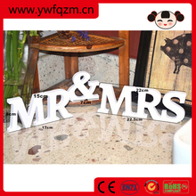 MR & MRS wooden letter home table decoration