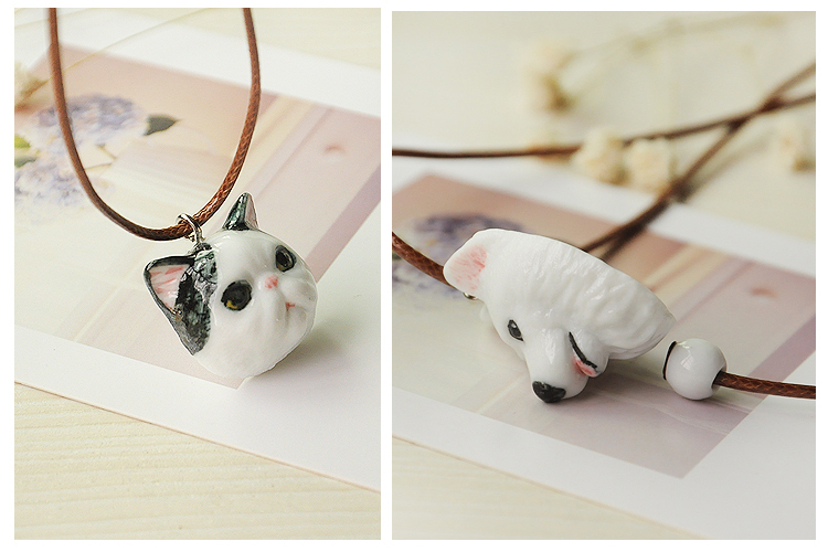 attractIve gold jewelry cat dog necklace accessories hot selling ceramic choker