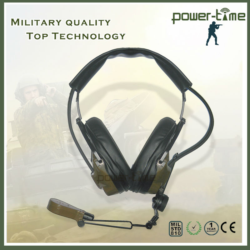 Headset-Microphones H-161/U and H-161A/U provide facilities for transmission and reception of voice-frequency speech signals