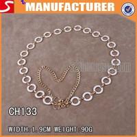 Wholesale metal rings chain belts for women